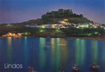lindos at night