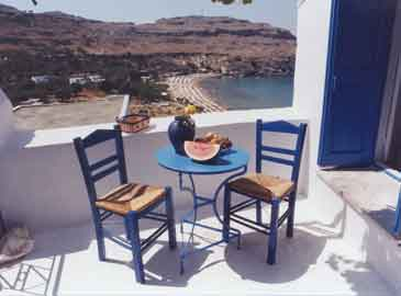 sea view from a house in lindos